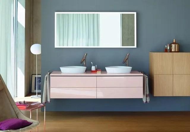 un meuble de salle de bains delicatement poudre chez duravit collection l cube