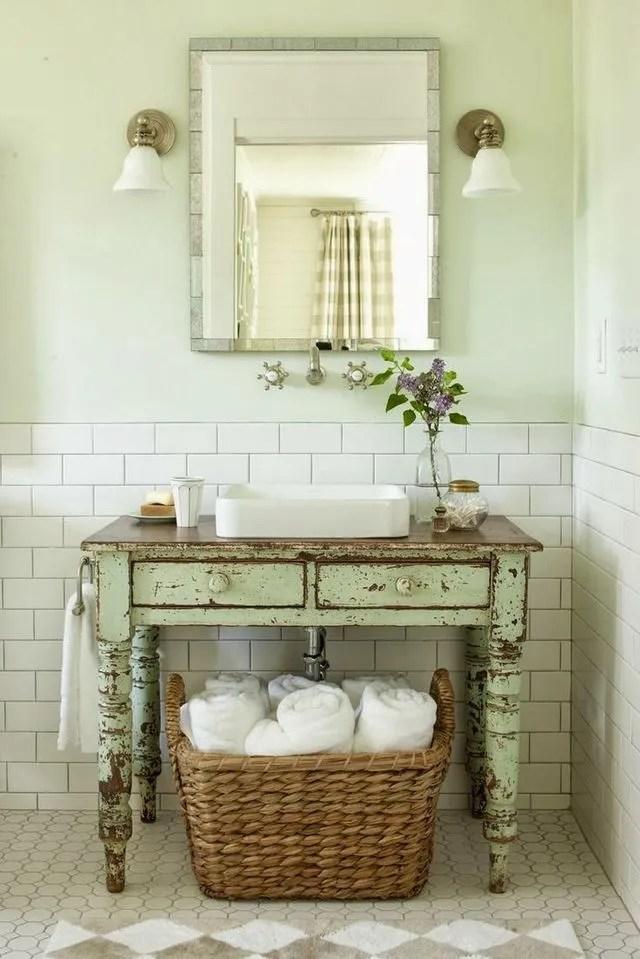 Meuble Vasque Idees Deco Recup Pour La Salle De Bains Cote Maison