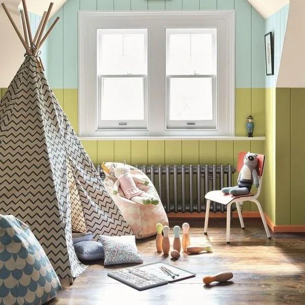 Chambre Vert Anis Et Gris