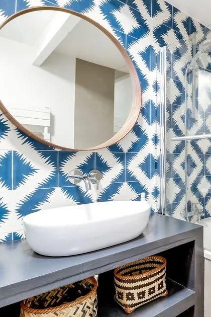 carrelage pour salle de bains original