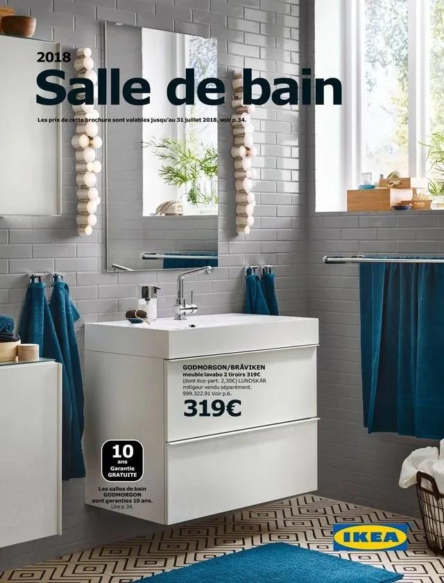 en une du catalogue special salle de bains 2018 godmorgon braviken meuble lavabo 2