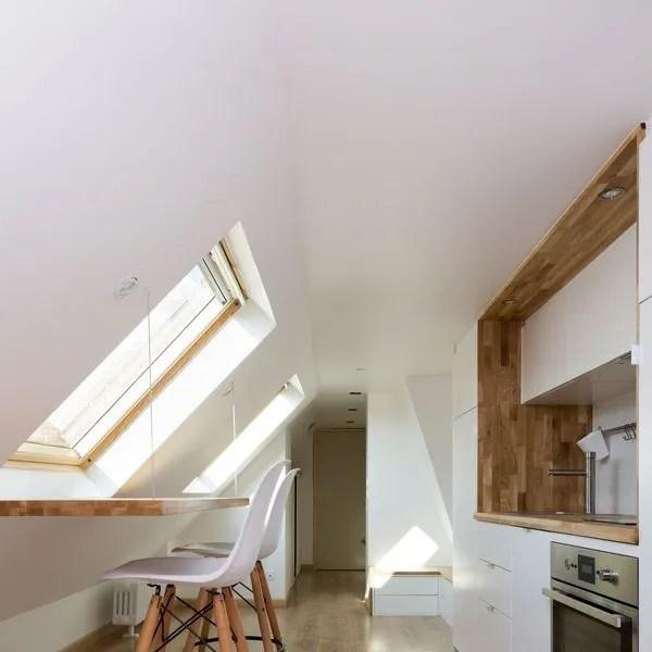 Appartement sous les toits  des amnagements ingnieux  Ct Maison
