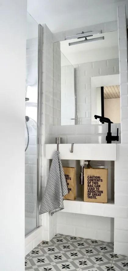 Deco De Salle De Bains En Noir Et Blanc Cote Maison