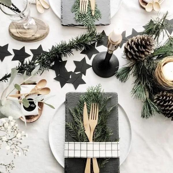 Deco table de Noel  les plus belles dco de table de fete de Pinterest  Ct Maison