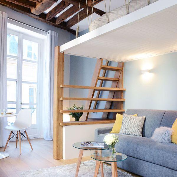 Studio Paris 6  23 m2 rnovs avec mezzanine  Ct Maison
