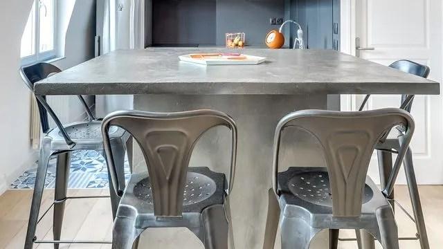 beton cire dans la cuisine cote maison