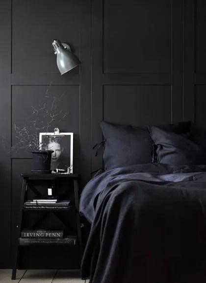 tete de lit mur noir cote maison