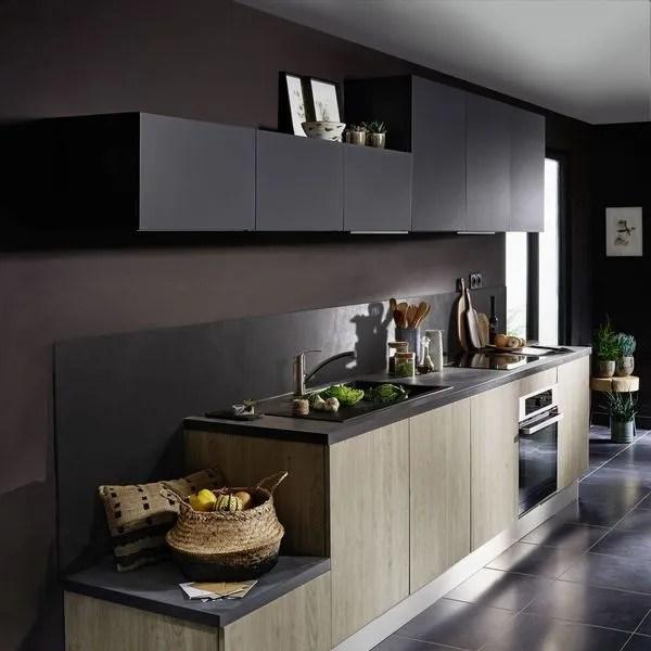 cuisine en noir et bois selection de