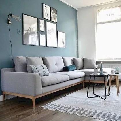 salon bleu canard idees peinture et