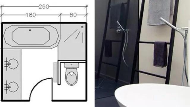 plans salle de bains 3m 4m 5m