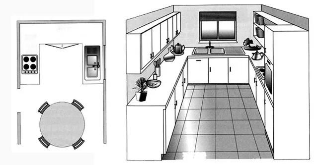 cuisine parallèle avec ilot