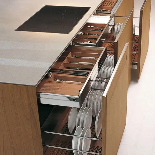 meuble cuisine tiroir coulissant