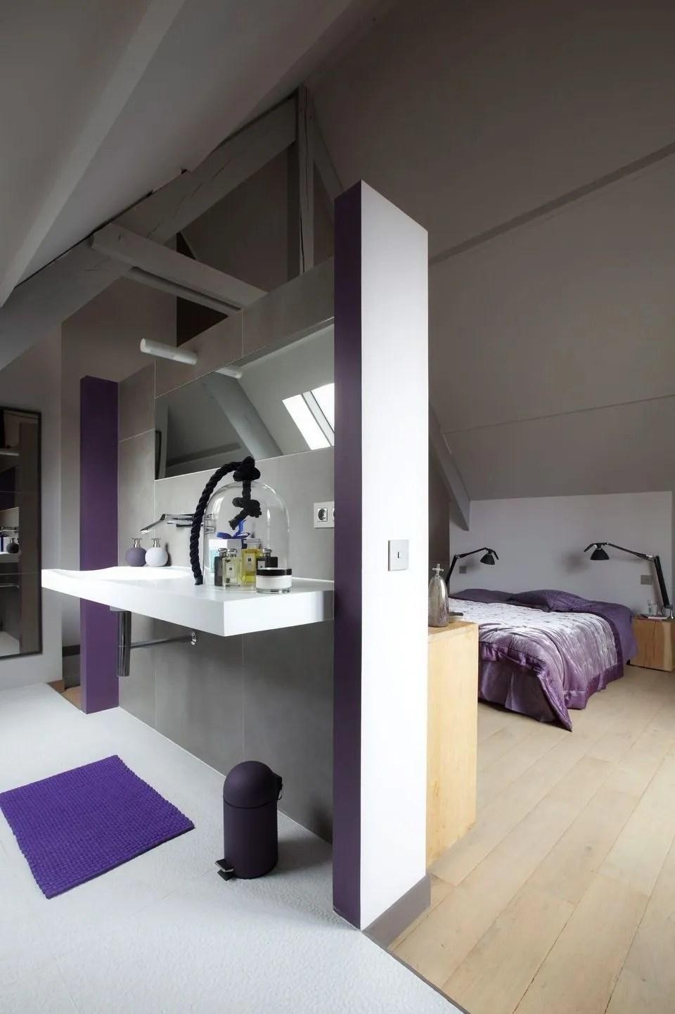Chambre Avec Salle De Bain Integree - Décoration de maison idées de ...