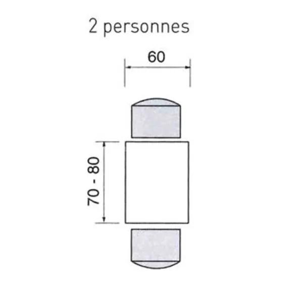 agrandir une table carree et rectangulaire pour 2 personnes