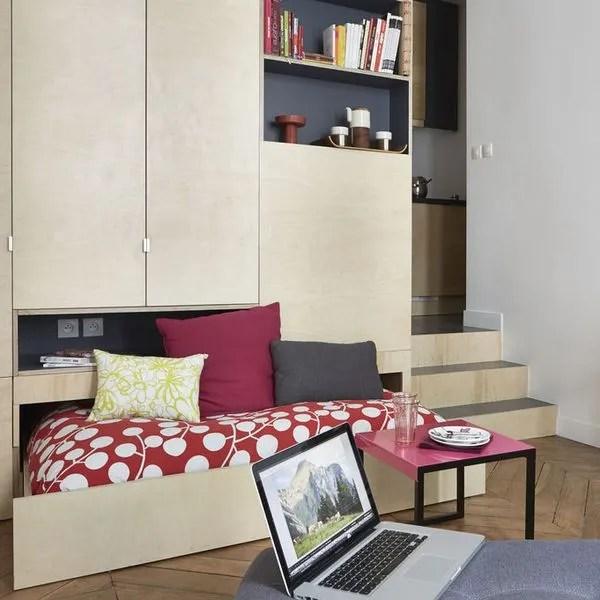 Studio tudiant Paris  17m2 bien amnag fonctionnel et pratique  Ct Maison