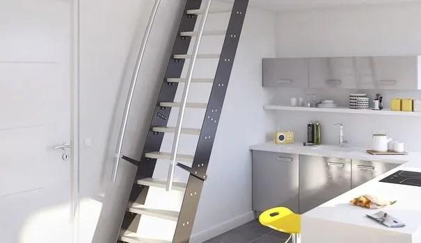 Solution gain de place escaliers chelles de meunier Lapeyre  Ct Maison