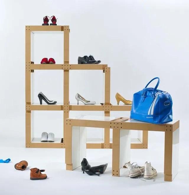 rangement chaussures mural pas cher