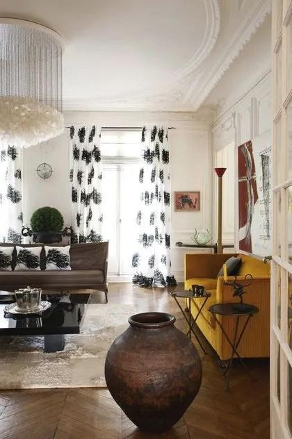 Appartement haussmannien paris  la dcoration colore originale et design  Ct Maison