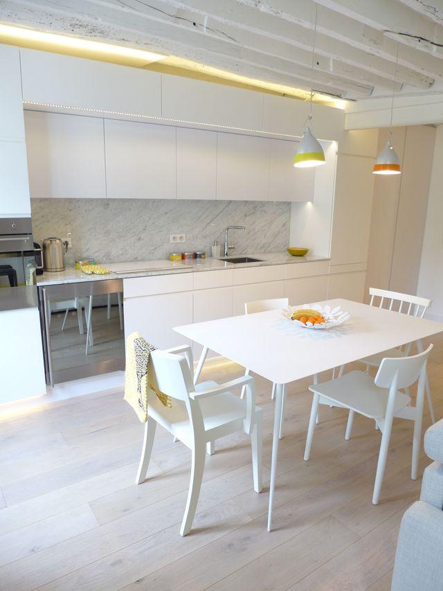 Amnagement salon design avec cuisine ouverte  Ct Maison