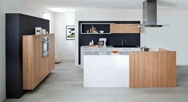 cuisines blanches et bois