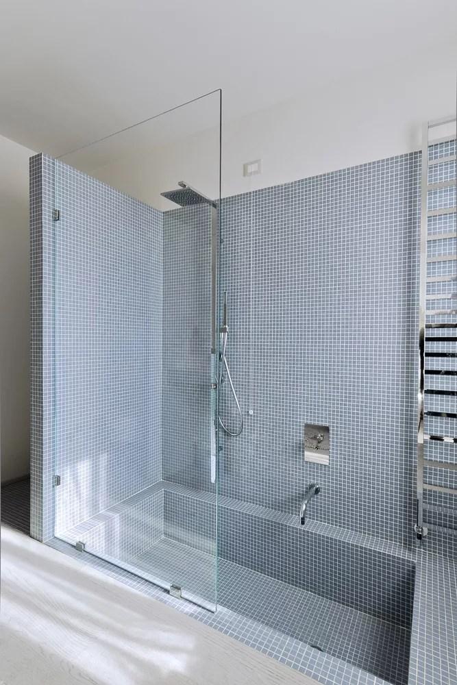 pince pour paroi de douche en verre chrome brillant