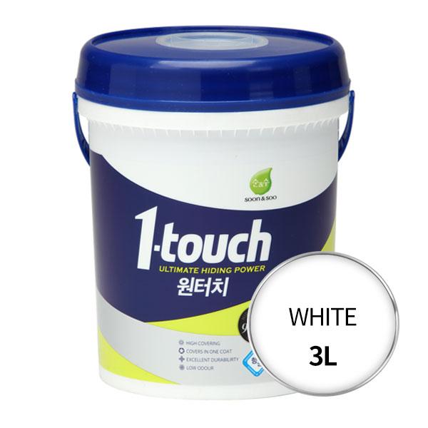 노루페인트 순앤수 원터치 페인트 3L, WHITE