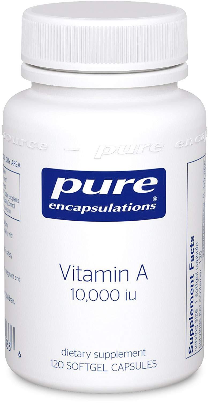 퓨어인캡슐레이션 비타민 A 10000IU 소프트젤 캡슐, 120개입, 1개