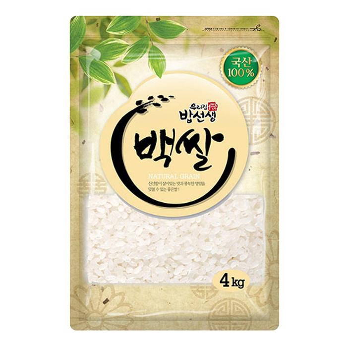 밥선생 백쌀, 4kg, 1개