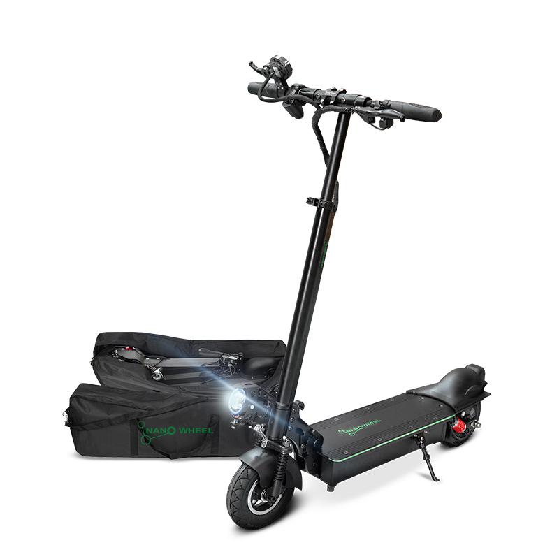 나노휠 NQ-AIR 500W Plus 전동킥보드 21Ah + 전용가방, 블랙