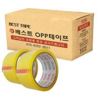 베스트 OPP 테이프 48mm x 40m, 투명, 50개입 (TOP 204318381)