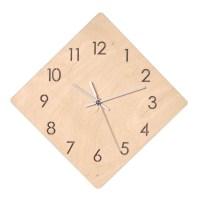 바이트리 자작나무 무소음 인테리어 타공벽시계 마름모/숫자타공, 혼합 색상 (TOP 2547287)