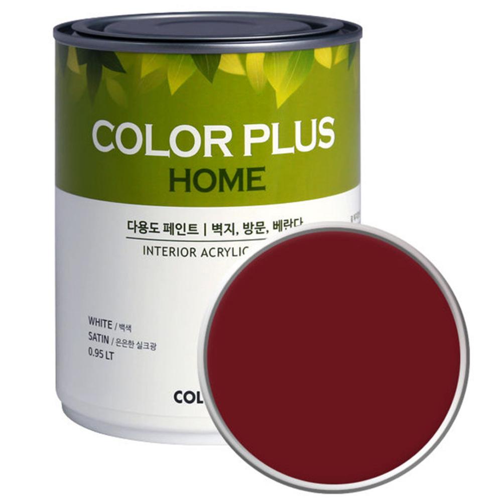 노루페인트 컬러플러스 홈 페인트 1L, 버건디 (SP5250)