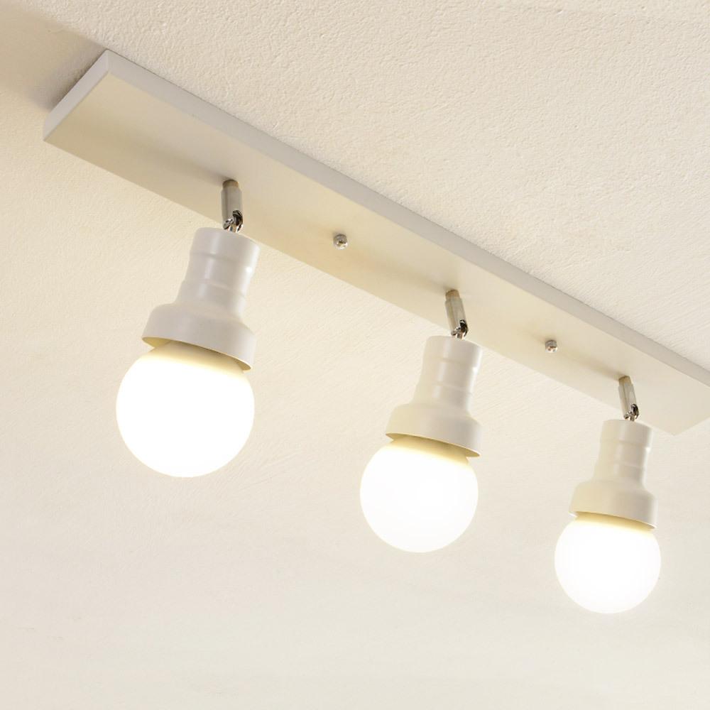 투플레이스 밀크 3등 직부 천장등, 화이트
