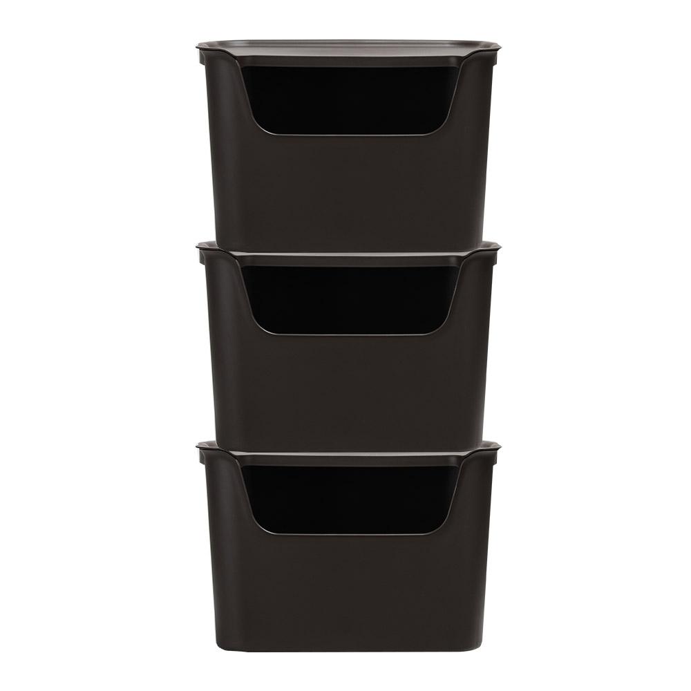 티볼리 컬러 수납박스 대 25.5L, 초코브라운, 3개입