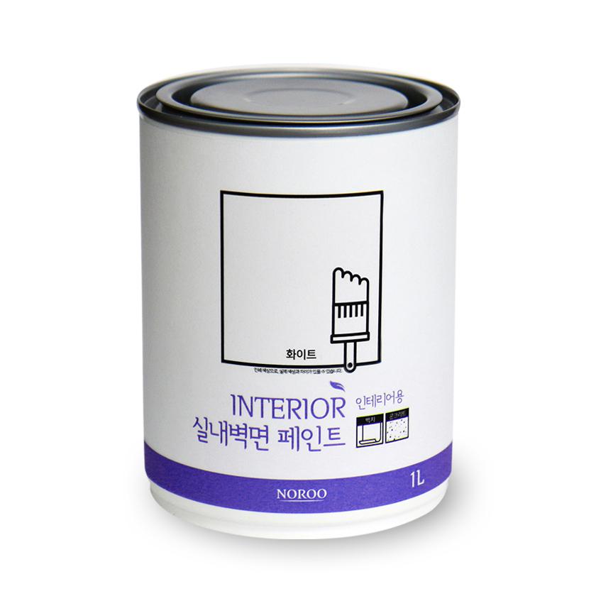 노루페인트 실내벽면용 페인트 1L, 화이트