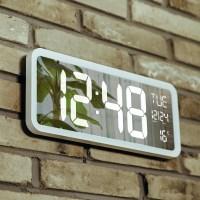 오리엔트 빅 미러 LED 다용도 디지털시계 OT874, 화이트 (TOP 1229659710)