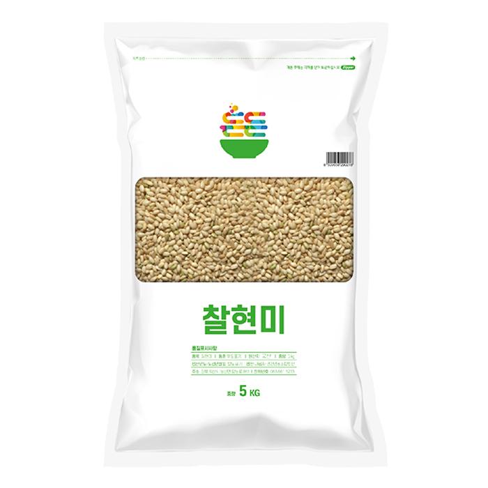 2020년 햅쌀 든든 우리 쌀 찰현미, 5kg, 1개