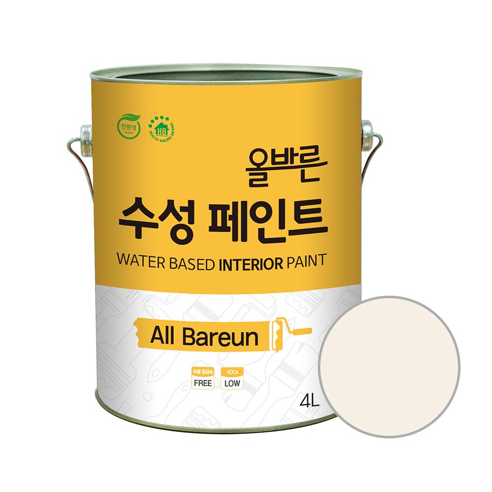 페인트인포 올바른 수성 페인트 4L, 휘핑크림
