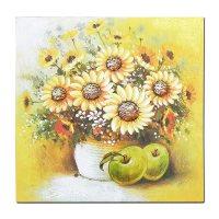 해바라기 꽃 화병 그림 액자, B형(33JC02) (TOP 1706688216)