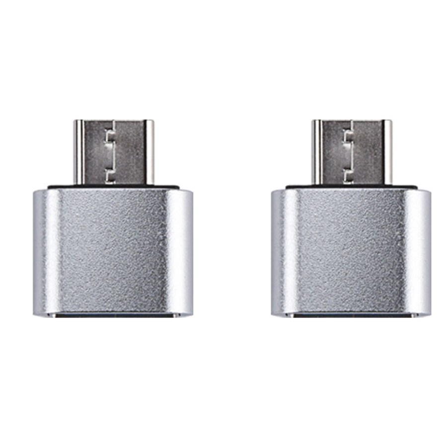 칼론 USB 3.0 미니 C타입 OTG젠더 KR-MCOTG, 실버, 2개