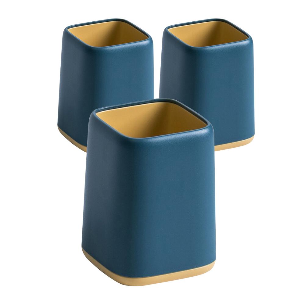 파스텔 무광 투톤 연필꽂이, 블루, 3개