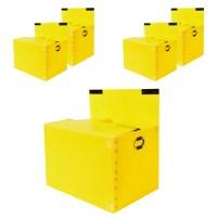 바른산업 이사박스 5호 고급벨크로형, 노랑, 5개 (TOP 5499069142)