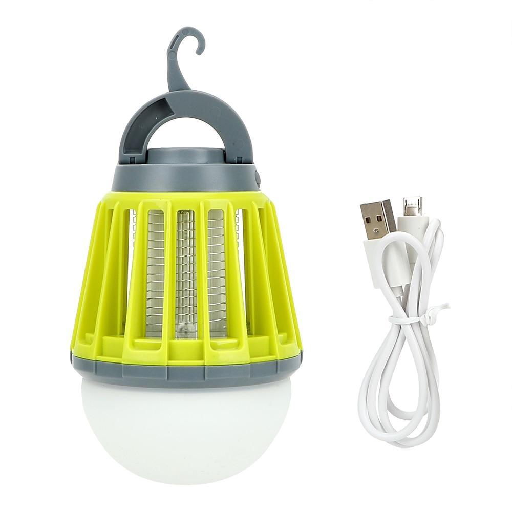 USB 충전식 모기잡는 LED 캠핑랜턴, 그린, 1개