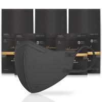 아에르 어드밴스드 보건용 마스크 블랙 L KF94, 1개입, 50개 (TOP 4757102484)