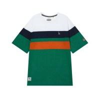 헤지스 남성용 HRC 면 혼방 컬러블럭 라운드 티셔츠 (TOP 5233698720)
