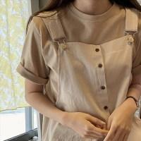 투데이앤룩 여성용 컬러별 소장 데일리 반팔 티셔츠 (TOP 1867962701)