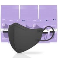 아에르 스탠다드 라이트핏 보건용 마스크 검정색 중형 KF94, 1개입, 50개 (TOP 5354242740)