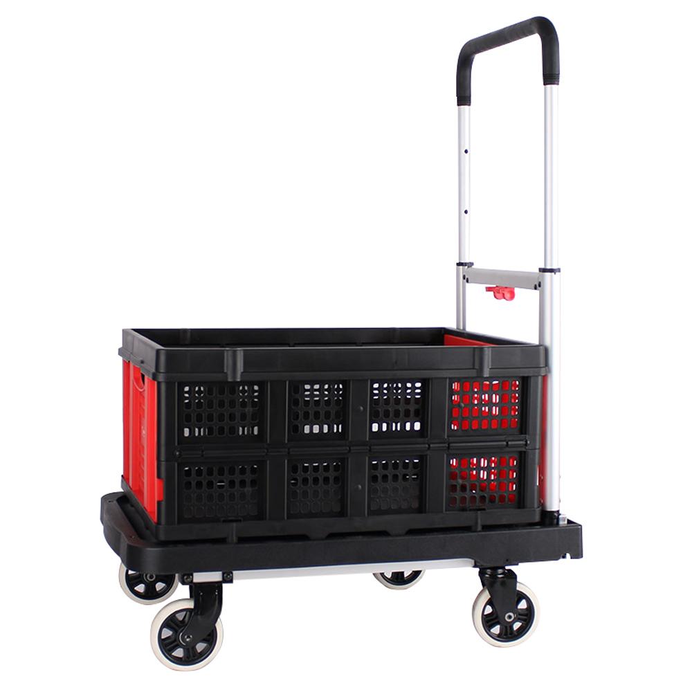 스노우아울 핸드트럭 플랫폼형 + 폴딩 컨테이너 레드, 1세트