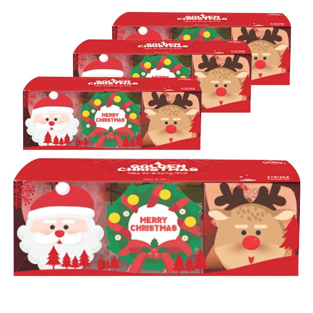 위토스 골든 초콜릿 3종 세트, 산타 + 루돌프 + 크리스마스리스, 4세트