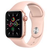 Apple 애플워치 SE, GPS+Cellular, 골드 알루미늄 케이스, 핑크 샌드 스포츠 밴드 (POP 2128457892)